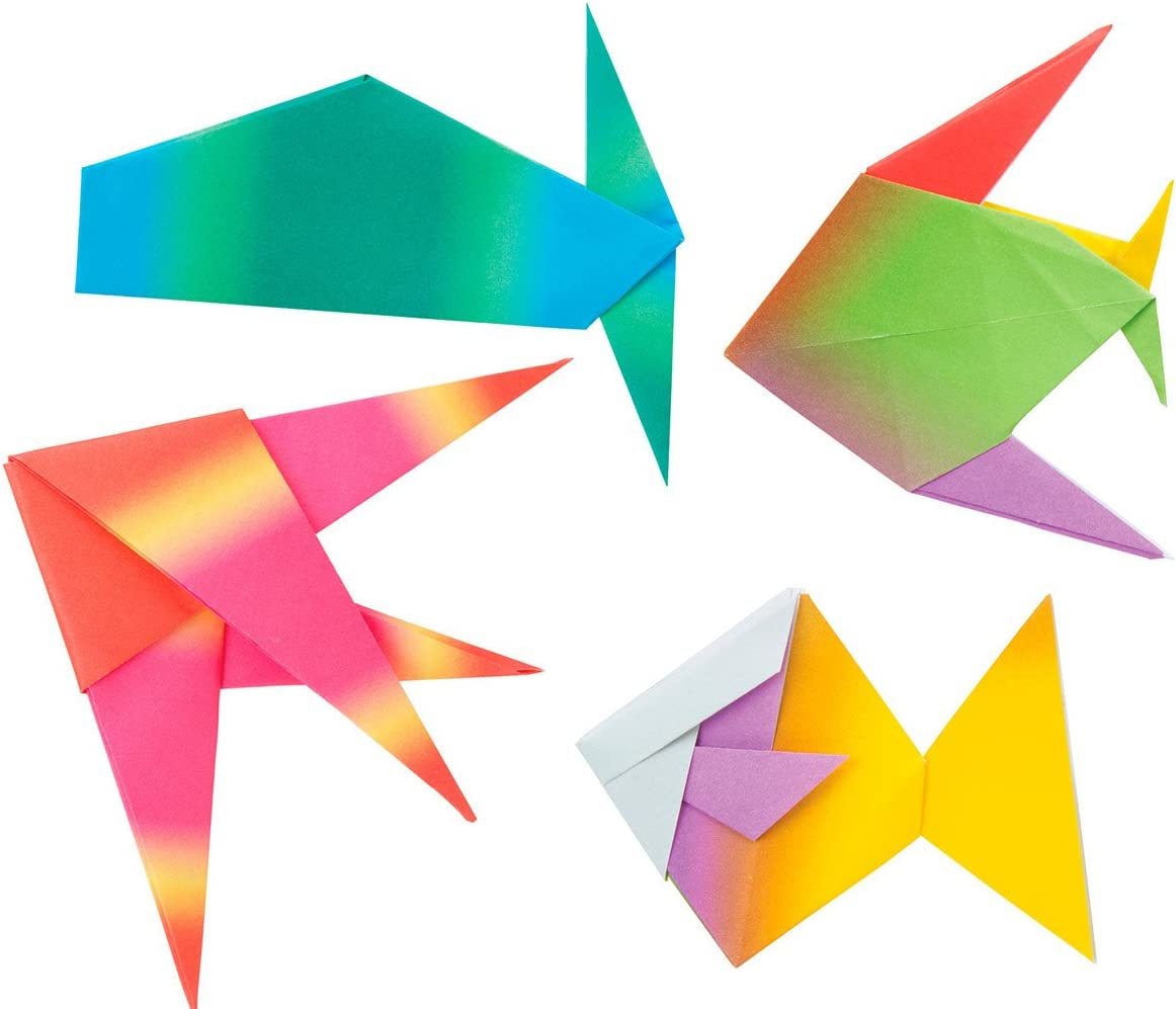 6-Inch by 6-Inch 18//Pkg Alex Toys Origami Paper Underwater Shapes