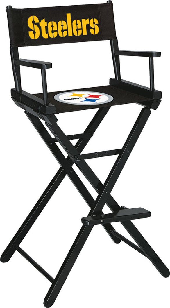 Imperial Officially Licensed NFL Merchandise: Directors Chair (Tall, Bar Height), Pittsburgh Steelers