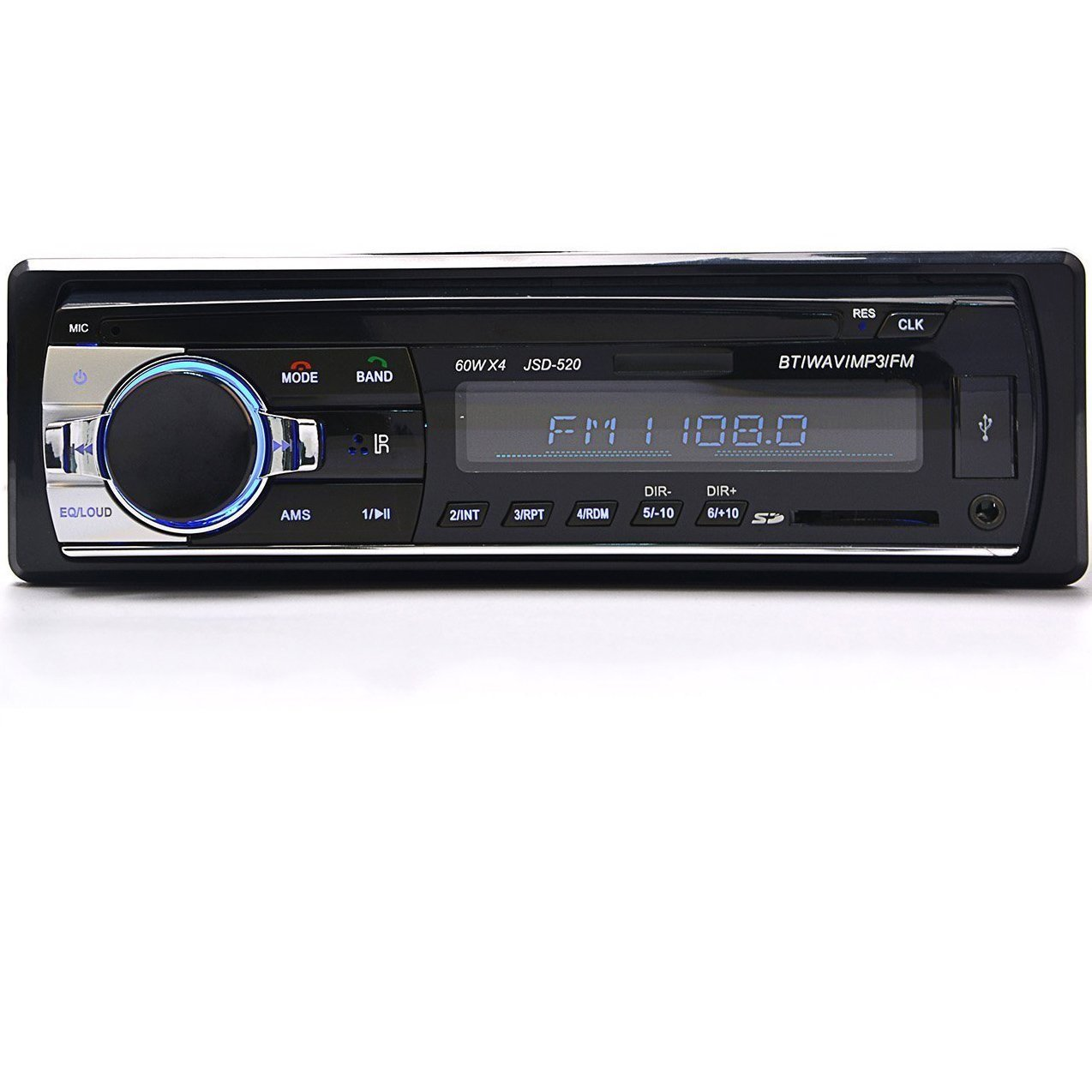 ALUNAR 12v Bluetooth Car Audio Stereo System Mp3 Player Radio in Dash One Din 1 Din With USB AUX Input SD Slot Fm Receiver
