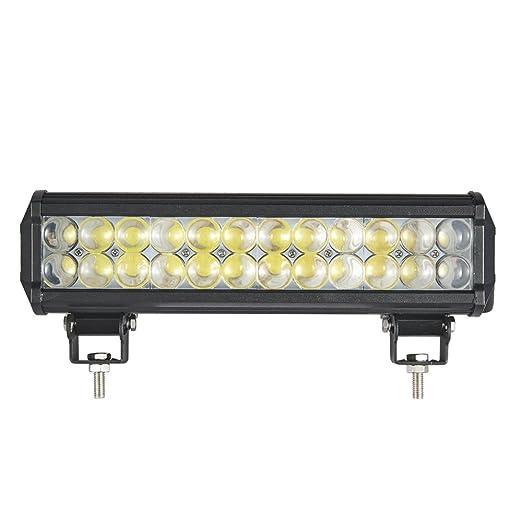 2 opinioni per Himanjie® Faro LED Luce di Precisione 72W Bulbi 4D 12x2 Barra Luminosa da