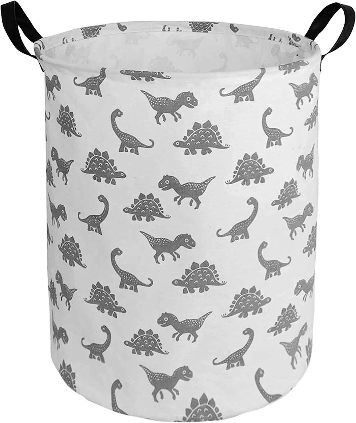 ZUEXT 19.7x15.7 Inch Large Dinosaur Laundry Basket, Waterproof Collapsible Fabric Storage bin with Handles for Clothes, Kids Boys Nursery Bedroom, Toy Storage, Baby Shower Xmas Birthday Gift Basket