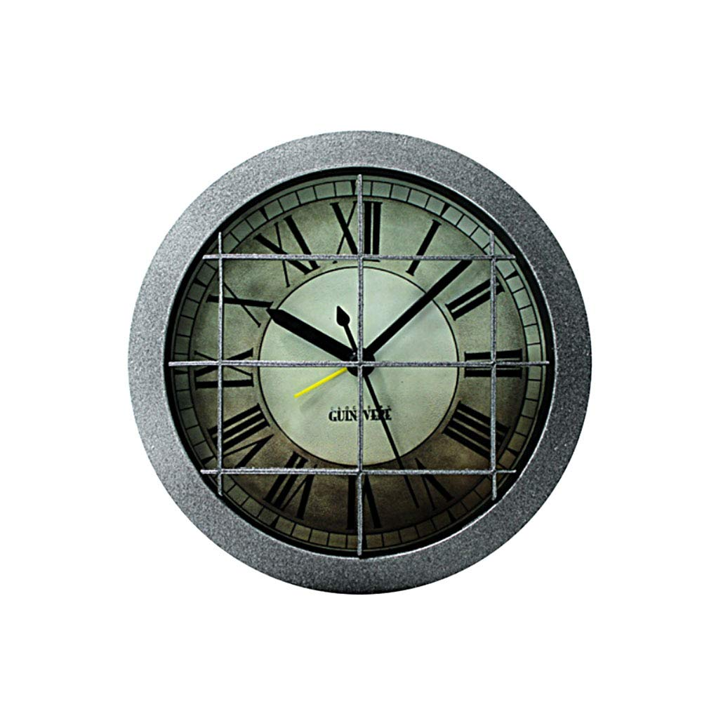 12cm LEYIJU Industrial metal style retro 3D small alarm clock battery powered 5 inches home decor bedroom kitchen table clock
