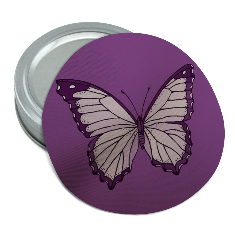 Purple Butterfly Round Rubber Non-Slip Jar Gripper Lid Opener Graphics and More