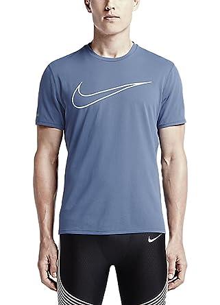 8c84c0327 Nike Men's Dri FIT Graphic Contour Running Shirt, Ocean Fog Blue, XL,  724234 404, Shirts & Tees - Amazon Canada