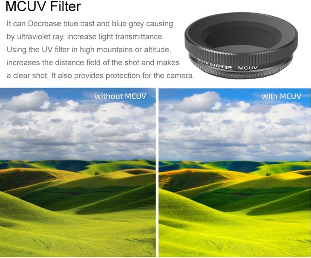 4pcs ND VRfamily Diving Filter Adjustable ND PL CPL Lens Sets for DJI Osmo Action Camera