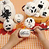 DomeStar Artificial Pumpkins, 14PCS White Fake