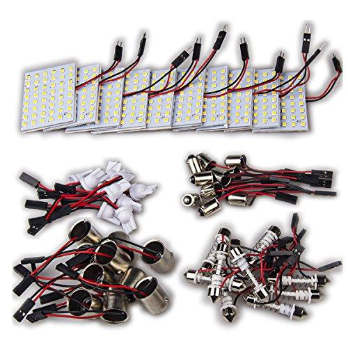 - 10 x High Power Warm White Festoon T10 1156 BA9S Panel Interior Dome Map RV Trailer LED Light Bulb (Warm White)