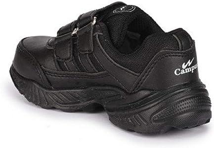 Buy Campus Boys' Black School Shoes -2
