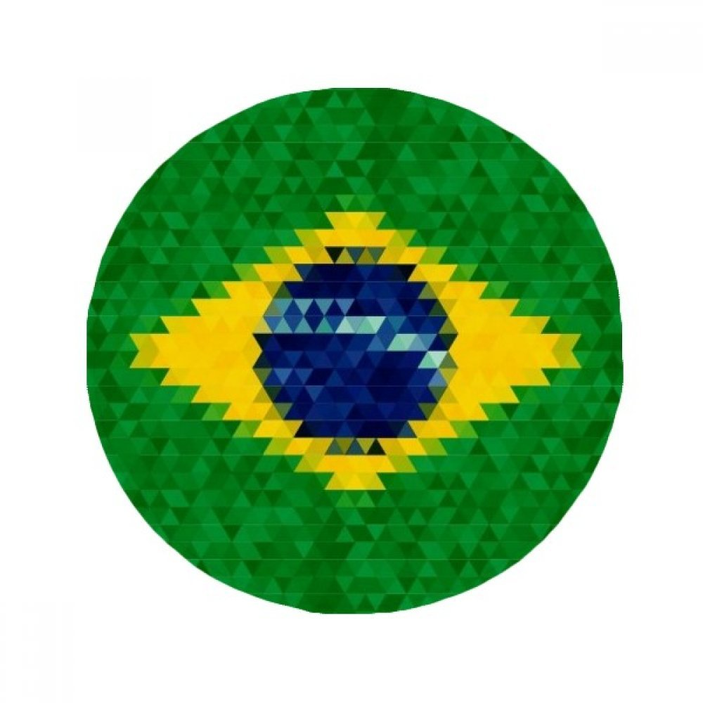 60X60cm DIYthinker Mosaic Brazil Flag Cultural Anti-Slip Floor Pet Mat Round Bathroom Living Room Kitchen Door 60 50Cm Gift