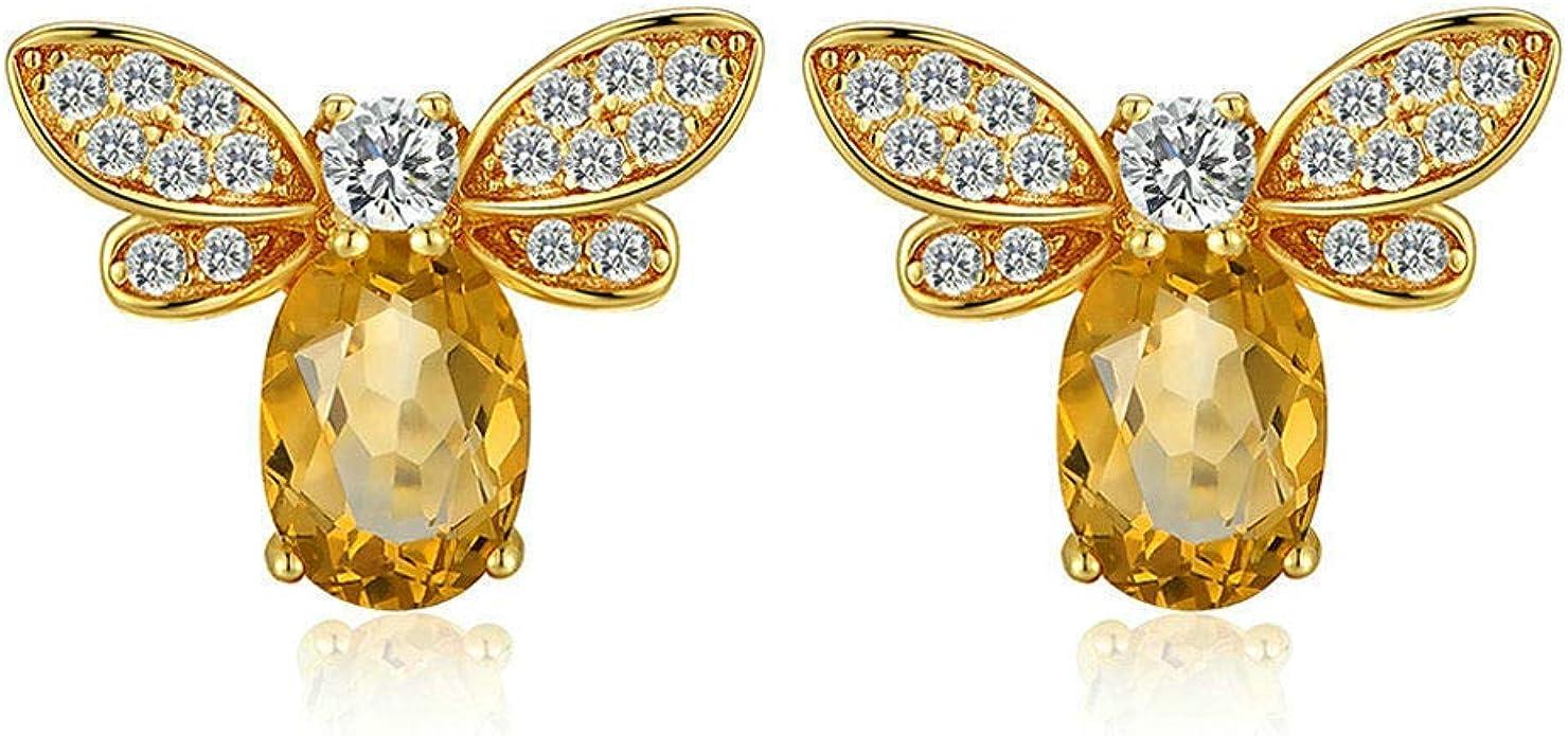 S925 Sterling Silver Yellow Silver Bumble Bee Stud Earrings From Monaco Fine Jewelry