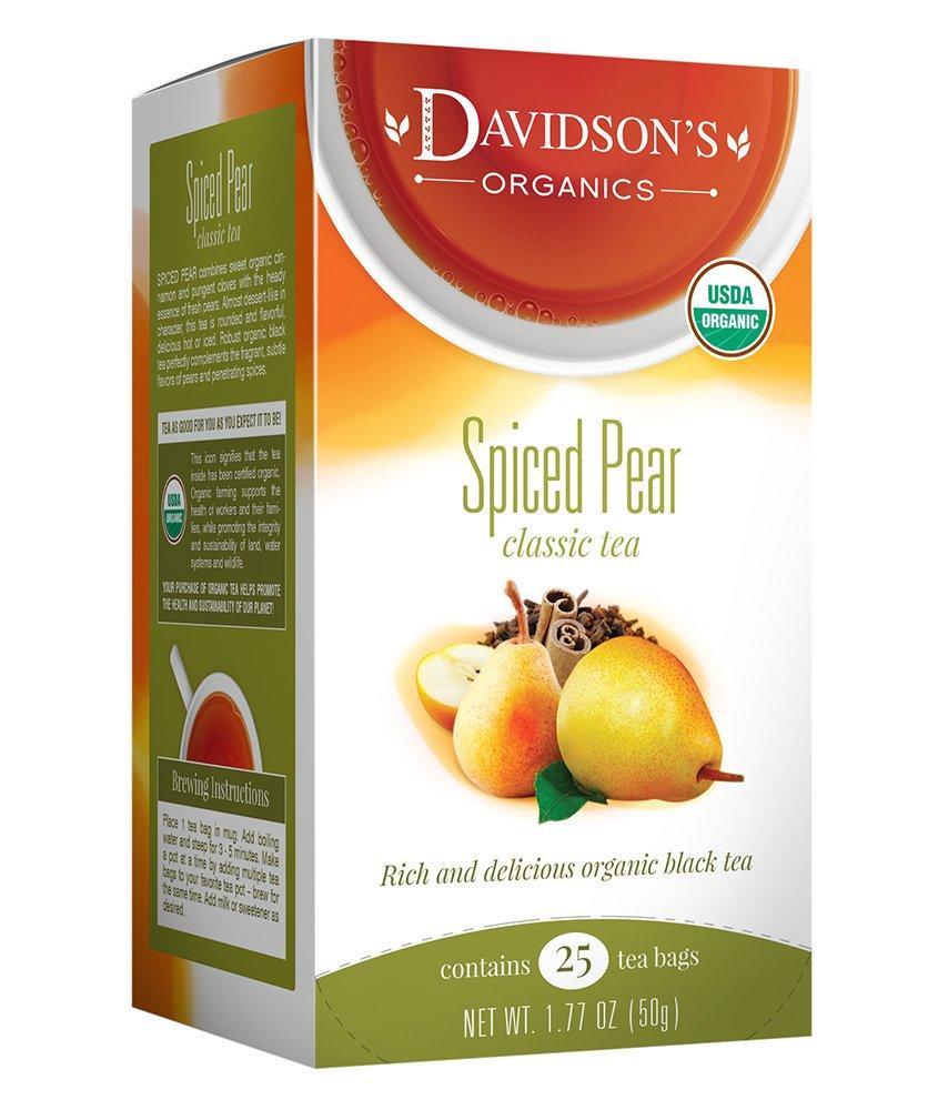 Davidson's Tea Spiced Pear, 25 Count Tea Bag