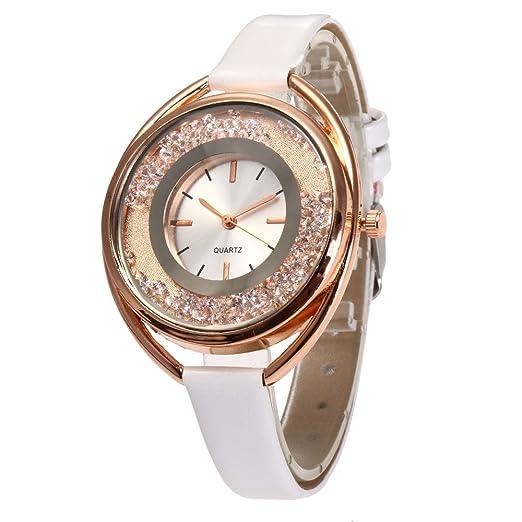 Womens cuarzo relojes, tecla Unique analógico Fashion Remoción Quicksand Diseño Lady relojes relojes para mujeres