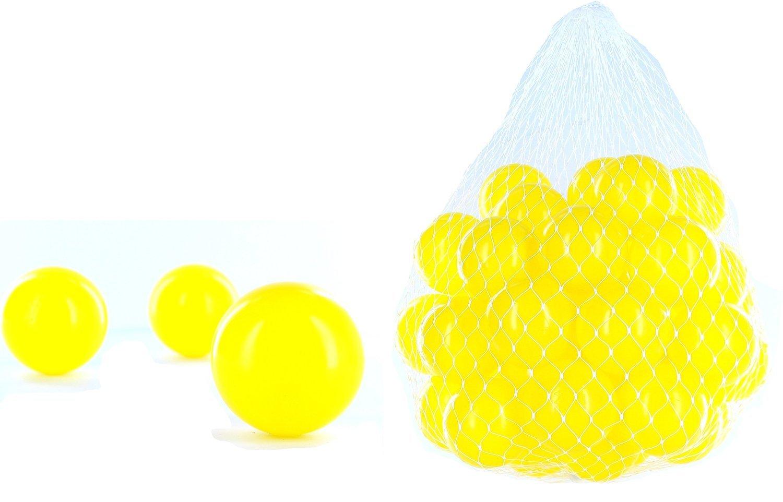 6000 pelotas para pelotas de un baño en el color amarillo para niños, bebés o también Animales