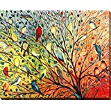 Art Jennifer Lommers Canvas Wrapped Birds Flowers Free Shpping Made in Canada