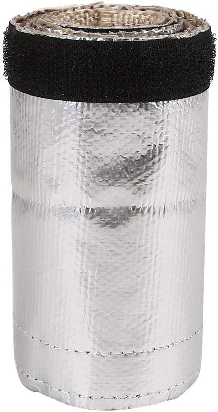 X AUTOHAUX 91 x 12cm Car Exhaust Pipe Fiber Cloth High Heat Shield Shroud