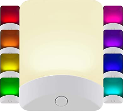 Mini LED Night Light Plug-In Wall Lamp Lighting Sensor Control Kids bedroom