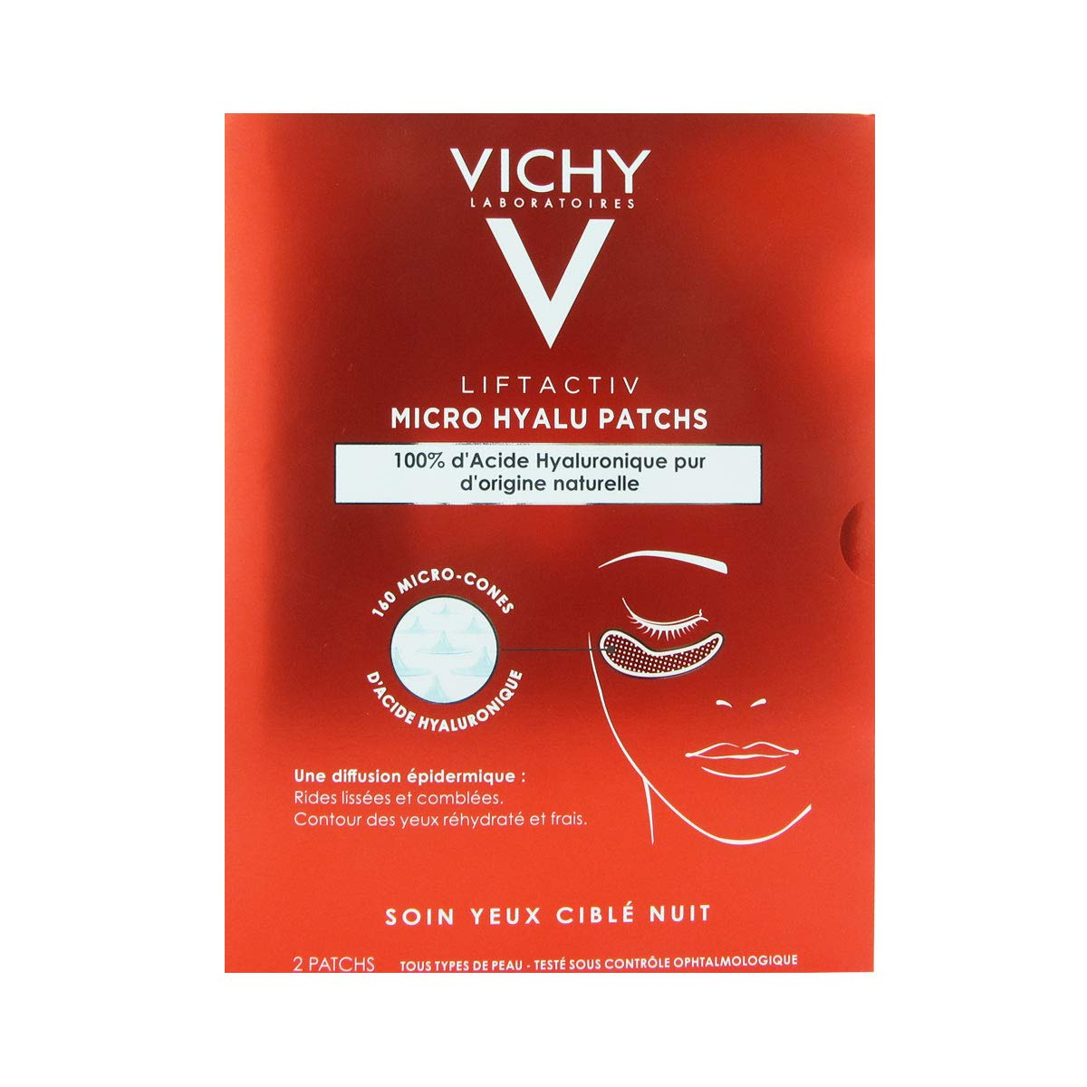 Vichy Liftactiv Micro Hyalu Patchs. 2 uds