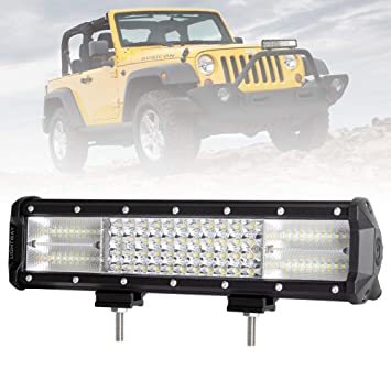 Car Lights 252w 18 Inch Three Row 12v Led Work Light Bar Combo Beam Driving Fog Lamp Offroad Led Work Car Light For 4x4 Suv 4wd Atv Automobiles & Motorcycles