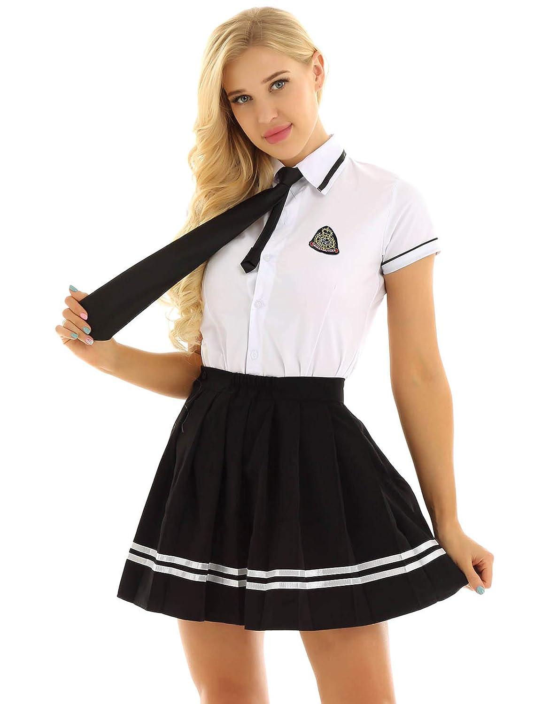 YiZYiF Uniforme Escolar para Mujer Niña Traje Disfraz ...