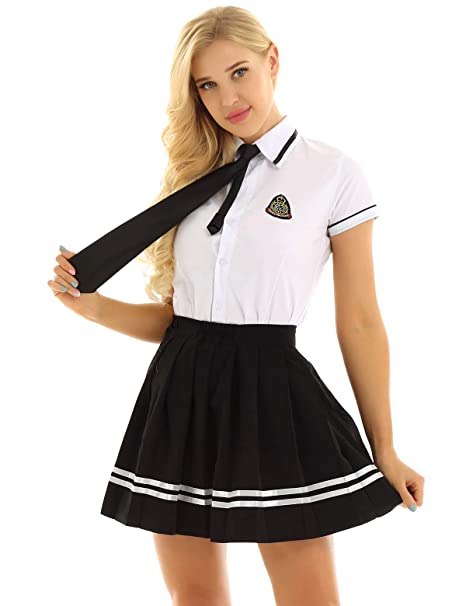 YiZYiF Uniforme Escolar para Mujer Niña Traje Disfraz Colegiala ...