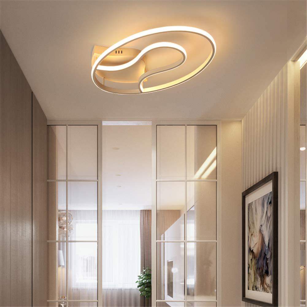 Led調光シーリングライトモダンアクリルアルミクリエイティブシーリングランプ寝室リビングルームランプ付きリモコン,50*35*11cm  50*35*11cm B07TV2P19J