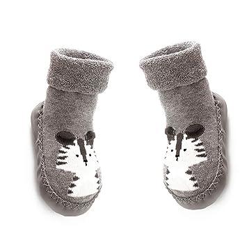 5a64931ce49cb Amazon.com : Hemore 13CM Baby Anti-Slip Socks Boots Breathable ...
