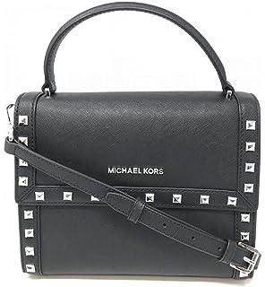 39117d53b3b0fe Michael Kors Women's Dillon Studded Medium Messenger Leather Crossbody Bag