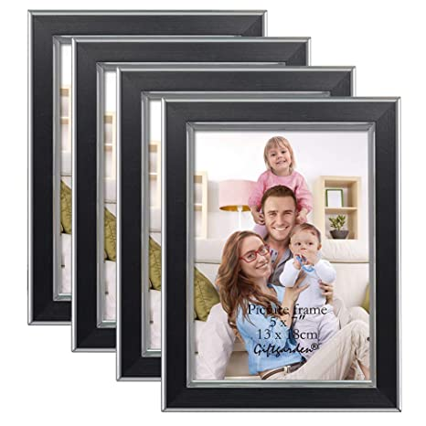 Giftgarden 5x7 Picture Frame Wall Photo Frames Set Of 4 Pcs Glass