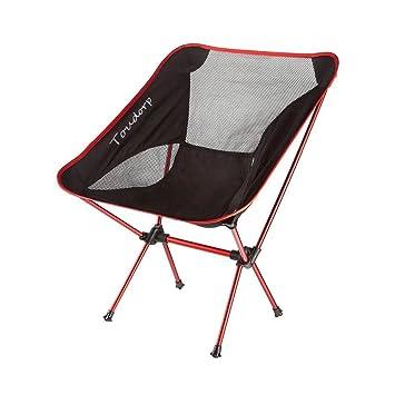 Silla de campamento reclinable de suelo plegable para exteriores Toudorp para playa, picnic, acampada