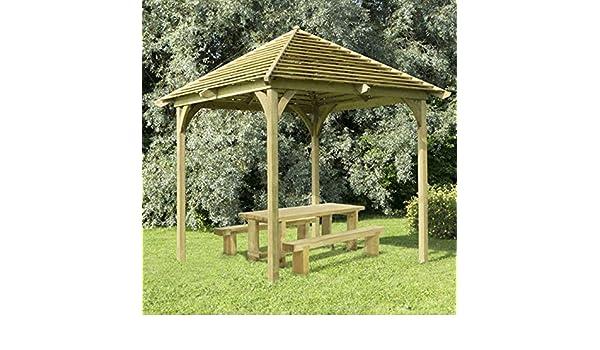 Comedor de madera de estructura de veneciano Pavilion Pergola jardín al aire libre (no para cubiertas): Amazon.es: Jardín