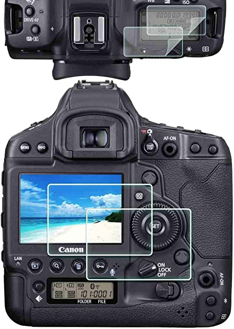 1dx Iii Top Pet Lcd Displayschutzfolie Für Canon 1dx Mark Iii Kamera 2 2 Stück Ulbter 0 3 Mm 9h Härte Gehärtetes Glas Screen Saver Anti Scrach Anti Fingerprint Anti Blasen Anti Staub Elektronik