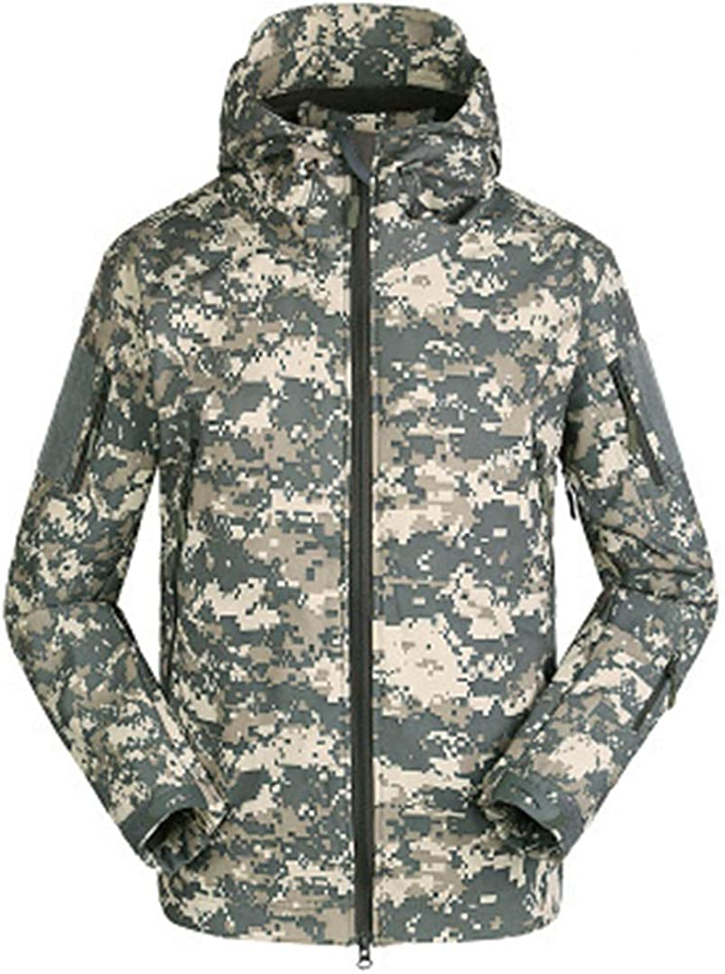 IFAWNGDK Military Tactical Lurker Shark Skin Softshell Jacket Men Waterproof Windproof Camo Coat Hooded Army Clothing