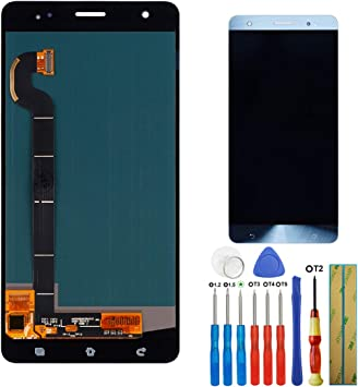 E-yiviil - Pantalla Amoled de Repuesto Compatible con ASUS Zenfone 3 Deluxe ZS570KL Z016D LCD Touch Screen Assembly con Herramientas, Color Azul: Amazon.es: Electrónica