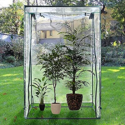 "H&B Luxuries 59"" Tall Outdoor Garden Mini Greenhouse for Upright Plants GH8109 by Hwabond Luxuries"