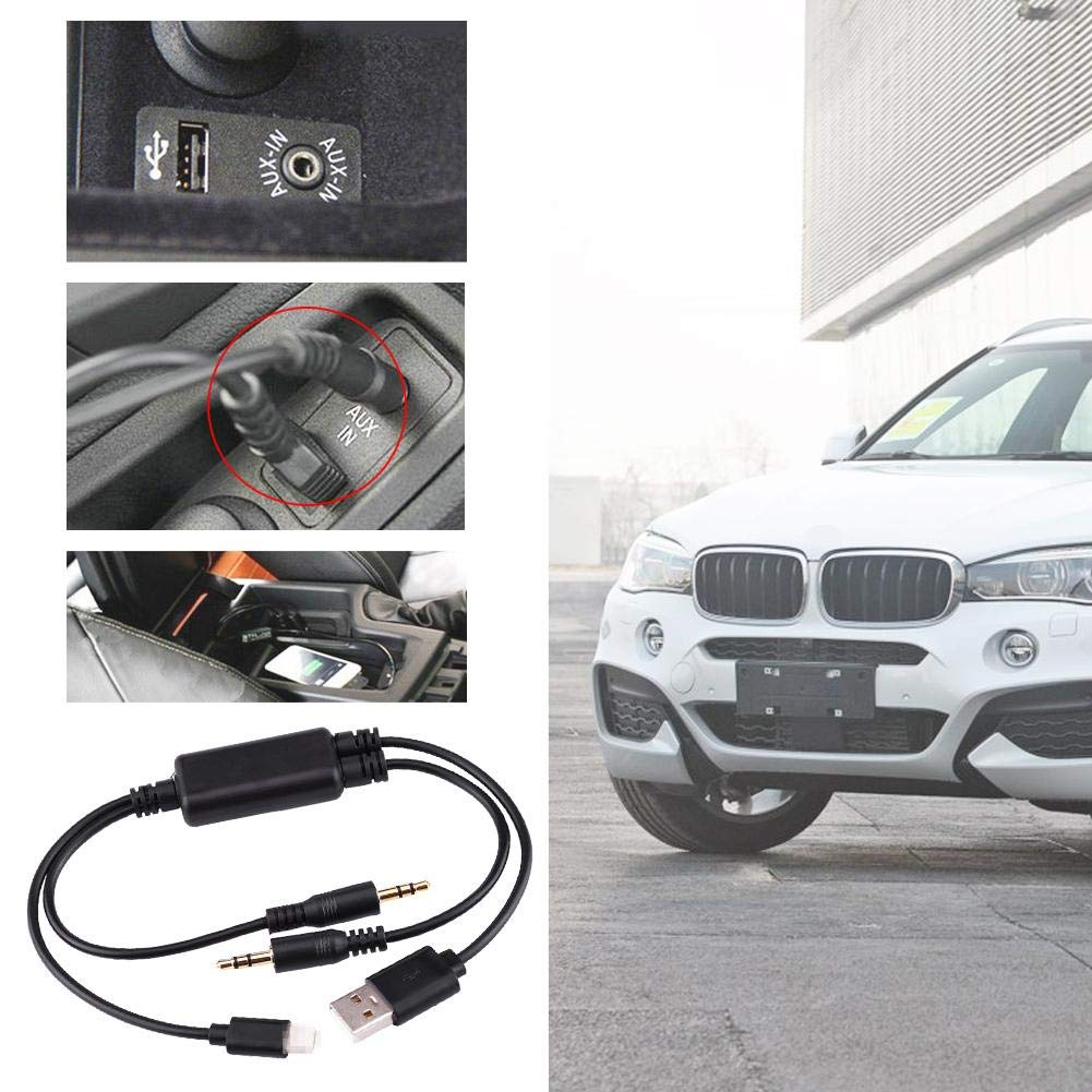 Car USB 3.5MM AUX Adapter Interface Cable For MINI Cooper Core For iPod Fast Data Transfer AUX Adapter Interface Cable