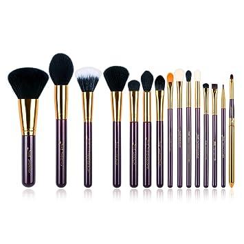 e4c49224a1b ... Pcs Pro Makeup Brushes Makeup Brush Set Beauty Cosmetics Powder  Foundation Eyeshadow Eyeliner Blending Lip Make Up Brush Tools Purple/Gold  T095: Beauty