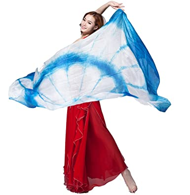 000ec62ed ZLTdream Women's 100% Silk Belly Dance Veils and Scarf Colors 98.443.3inch  at Amazon Women's Clothing store: