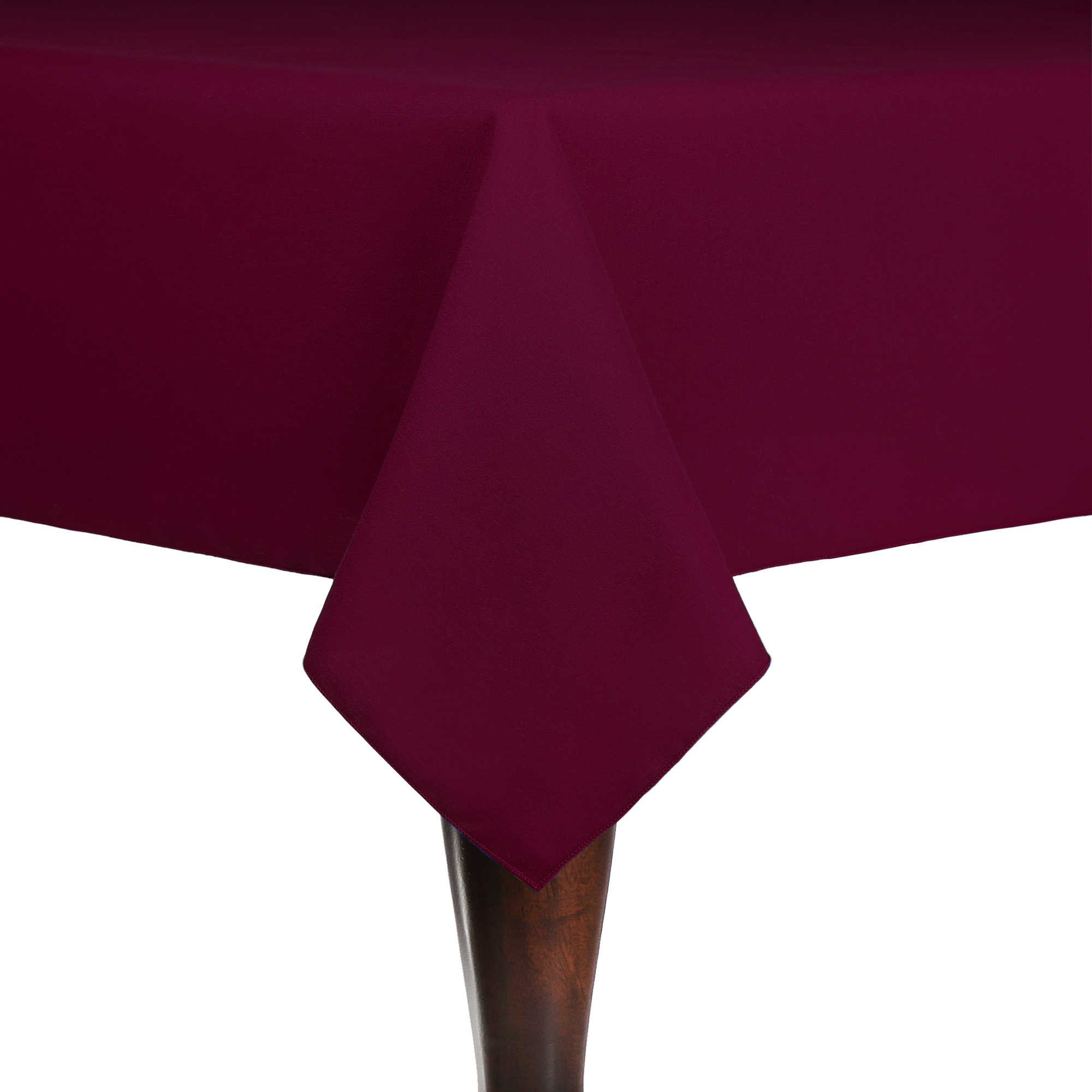 Ultimate Textile (5 Pack) Cotton-feel Spun Polyester 60 x 60-Inch Square Tablecloth - for Wedding and Banquet, Hotel or Home Fine Dining use, Burgundy Dark Red