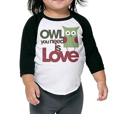 SH-rong Owl You Need Is Love Toddler Baseball Tee