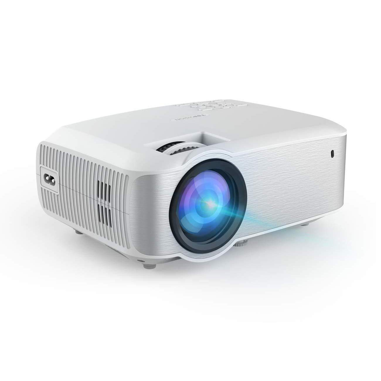Video Projector, TOPVISION Full HD 1080P Supported LED Projector with 3800Lux,60,000 Hrs Home Movie Projector for Indoor/Outdoor with Dual Speakers, Compatible with Fire TV Stick, PS4,HDMI,VGA,AV,USB by TOPVISION
