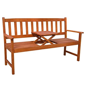 Amazoncom Festnight Patio Garden Bench Park Outdoor Furniture - Park bench and table