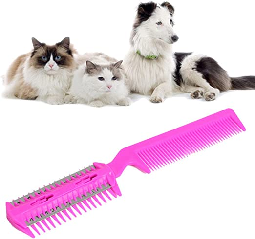 Dog Cat Grooming Tool Hair Fur Shedding Trimmer Doggie Rake Cleaning OOEOO Pet Comb