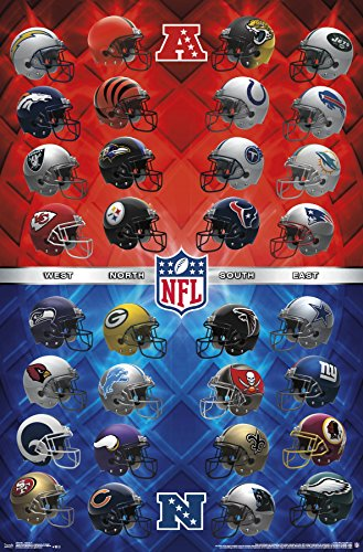 Trends International NFL - Helmets Premium Wall Poster, 22.375