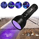 DaskFire Ultraviolet Flashlight, Blacklight Flashlight 51 LED UV Lights for Pet Dog Cat Urine Stain Detector or Bed Bugs Scorpions Home Hotel Pest Control Inspection