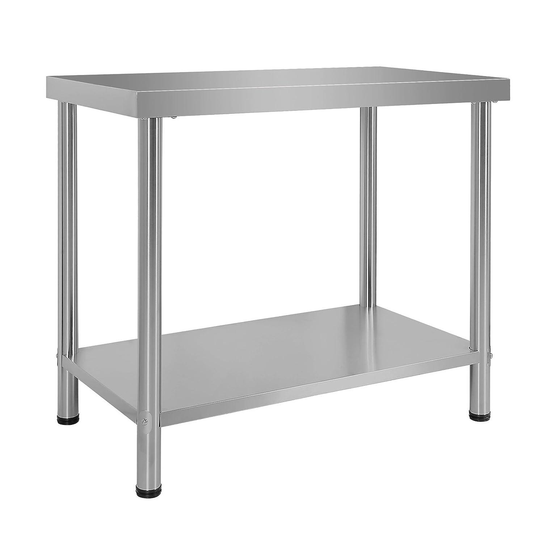 Wiltec Edelstahl Tisch Arbeitstisch Edelstahltisch Gartentisch 100 x x 60 x 100 85 cm 0766d2