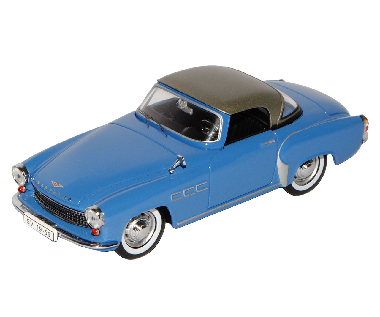 Ixo Wartburg 313-1 Coupe Blau Silber Silber Silber 1957-1960 CCC073 1/43 Modell Auto mit individiuellem Wunschkennzeichen f06e91