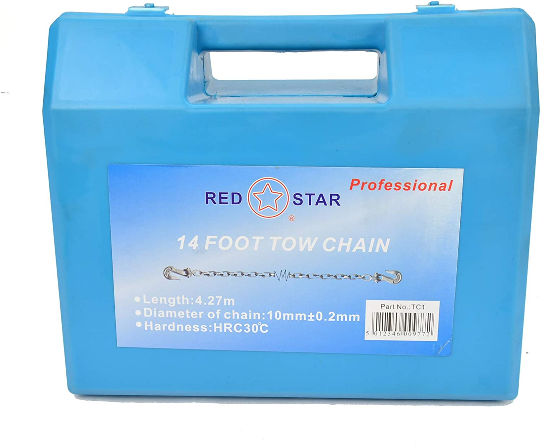 RED STAR Crochets de cha/îne en Acier pour remorquage 4,2 m