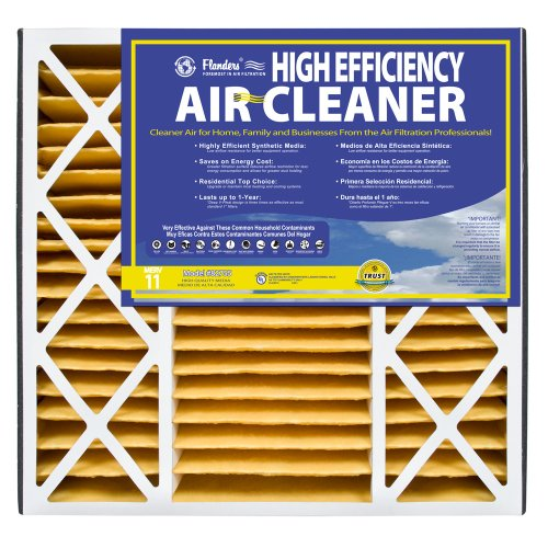 High Efficiency Filter Media (NaturalAire High Efficiency Air Filter, MERV 11, 20 x 25 x 4.5-Inch, 2-Pack)