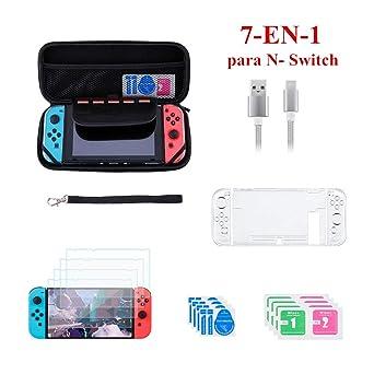 7 en 1 Accesorios para Nintendo Switch - Funda Nintendo ...