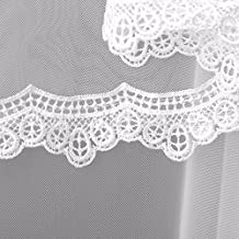 Bridal veil , high quality short wedding veil White colour with lace edge